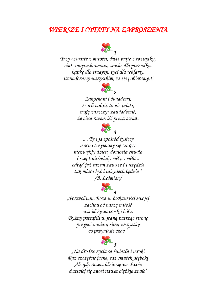 Cytaty I Wiersze