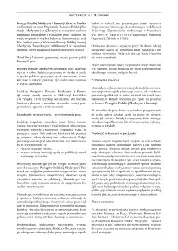 Regulamin recenzowania i przyjmowania prac