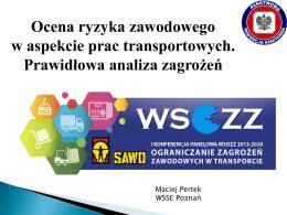 Ocena ryzyka zawodowego w aspekcie prac transportowych