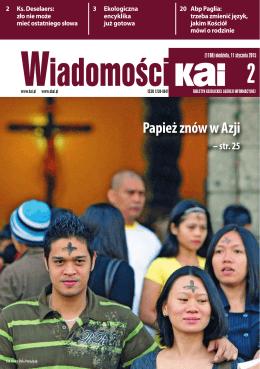 Papież znów w Azji