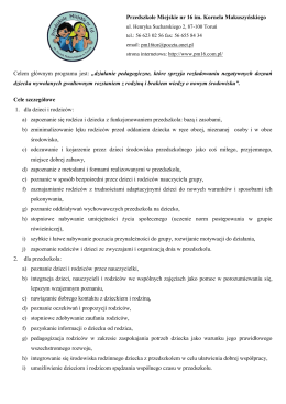 Dni adaptacyjne w Przedszkolu Miejskim nr 16 w Toruniu