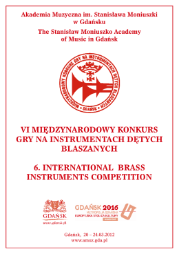 vi międzynarodowy konkurs gry na instrumentach dętych