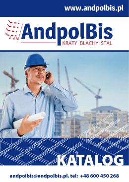 Pobierz nasz katalog 2014 - Kraty pomostowe Andpol Bis