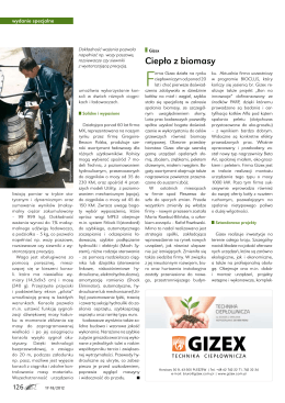 """""""Ciepło z biomasy"""" - art. express 17-18/2012"""