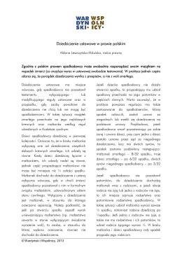 Dziedziczenie ustawowe w prawie polskim