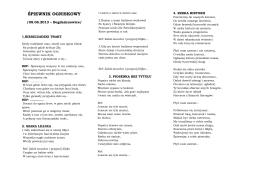 Śpiewnik Ogniskowy – biwak Bogdańczowice 2013