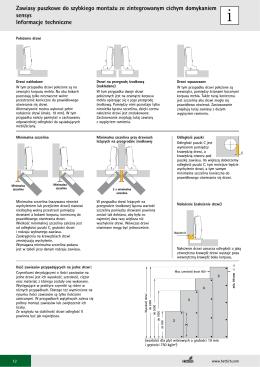 Zawiasy puszkowe do szybkiego montażu ze zintegrowanym cichym