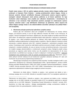 Stanowisko Polskiego Stowarzyszenia Biogazu ws. projektu