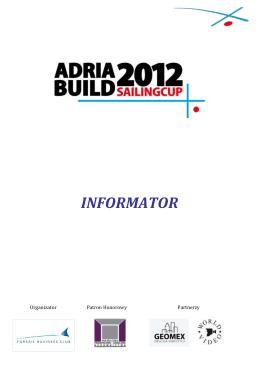 INFORMATOR - Adria Build Sailing Cup