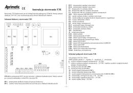 Instrukcja sterowania T3E - miwi