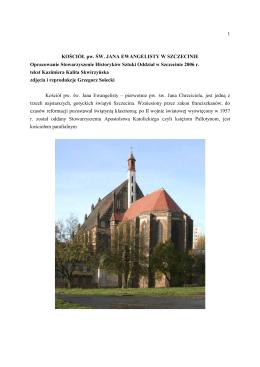 Kościół pw. Św. Jana Ewangelisty w Szczecinie