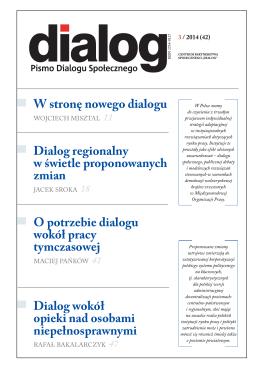 Dialog Nr 3/2014 - Wojewódzka Komisja Dialogu Społecznego w