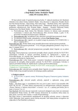 Protokół Nr 9/VI/0052/2011 - BIP