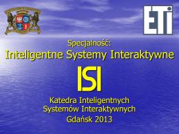 Inteligentne Systemy Interaktywne