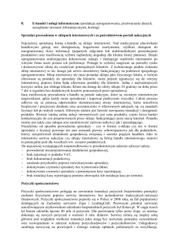 E-handel i usługi informatyczne (produkcja oprogramowania