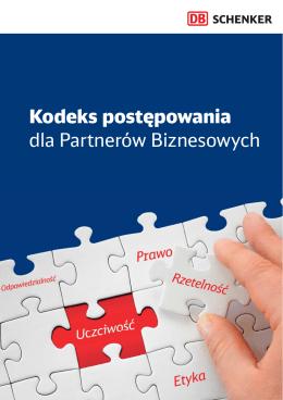 Kodeks postępowania dla Partnerów Biznesowych - Schenker