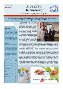 BIULETYN Informacyjny - Samodzielny Publiczny Zespół Opieki