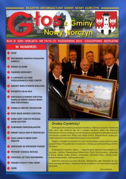 Głos z Gminy Nowy Korczyn Nr 19/10 (7) Październik 2010r.