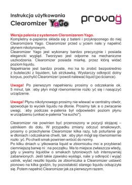 Instrukcja Clearomizer Yago.cdr