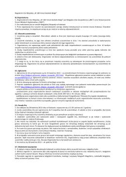 """Regulamin Gry Miejskiej """"W 180 minut dookoła Belgii"""" §1"""