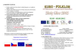 Regulamin Złoty K łos 2012