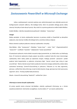 Zastosowanie PowerShell w Microsoft Exchange
