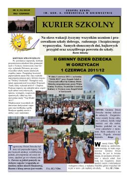 KURIER SZKOLNY - Zespół Szkół w Gniewczynie Łańcuckiej
