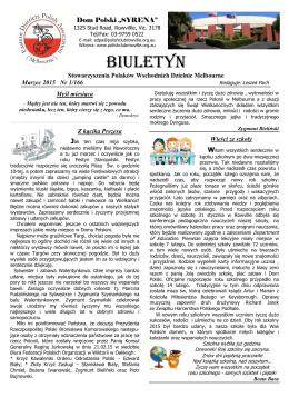 "Biuletyn Marzec 201E - Polish House ""Syrena"""