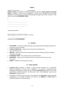 Umowa — firma - Coworking Toruń