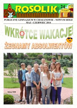 publiczne gimnazjum w cieszanowie - nowym siole maj
