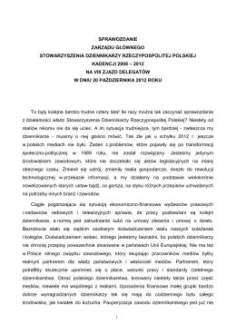 Sprawozdanie Zarządu Głównego Kadencji 2008-2012