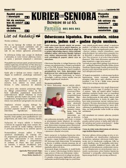Kuriera dla Seniora - Wydanie 3/2013