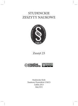 zobacz PDF - Studenckie Koło Naukowe Prawników