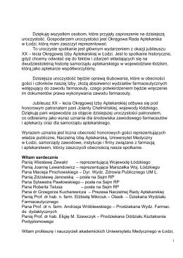 Wystąpienie Prezesa ORA w Łodzi