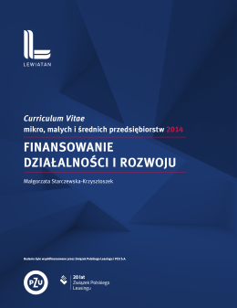 Curriculum Vitae mikro, małych i średnich przedsiębiorstw 2014