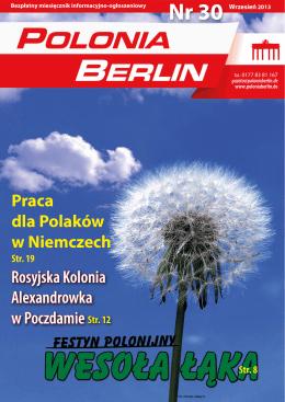 Praca dla Polaków w Niemczech Rosyjska Kolonia