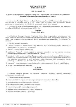 Uchwala Nr III/18/14 z dnia 30 grudnia 2014 r.