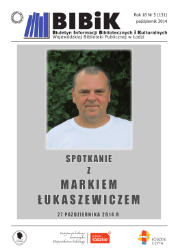 Spotkanie z Markiem Łukaszewiczem