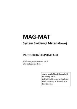 INSTRUKCA MAG-MAT