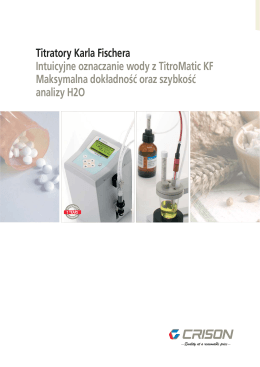 Dane Techniczne TitroMatic KF