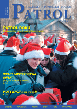 PATROL ROKU - Komenda Wojewódzka Policji w Gdańsku