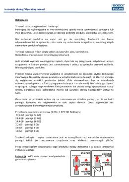 Instrukcja obsługi/ Operating manual Ostrzeżenie
