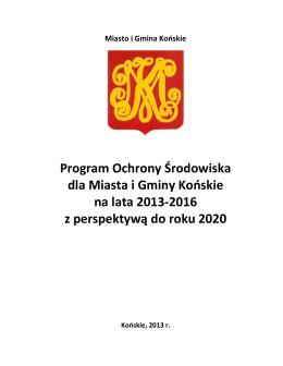 Program Ochrony Środowiska na lata 2013-2016