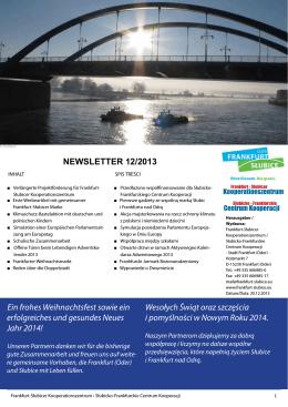 Grudzień 2013 - Frankfurt-Słubicer Kooperationszentrum