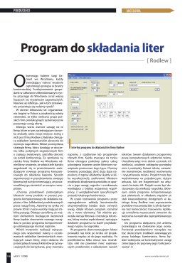 Program do składania liter