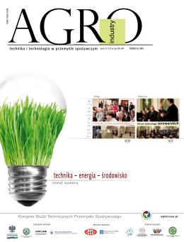 technika – energia – środowisko - AgroINDUSTRY