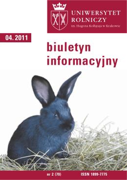 Biuletyn Informacyjny UR w Krakowie nr 2 (70)