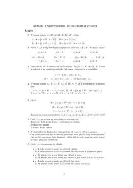 Zadania z wprowadzenia do matematyki wyższej Logika - e-WMP