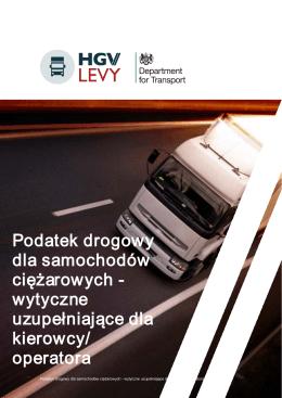 Podatek drogowy dla samochodów ciężarowych