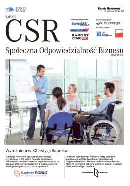 """21 edycji """"Raportu Społecznej Odpowiedzialności"""